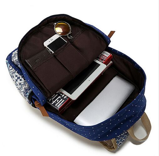 korean canvas printing backpack women Technics : Handmade