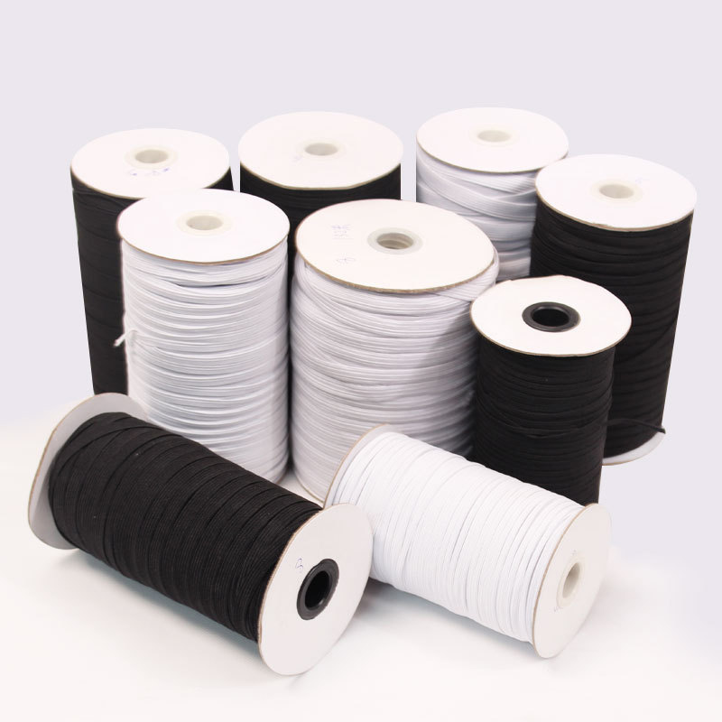 Elastic Bands 3mm 5mm 6mm 8mm 10mm 12mm Wide Elastic Rubber Tape For Trouser Clothing Diy Home Sewing Supply Accessories 1 Roll