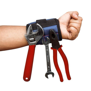 2pcs Magnetic Wristband Pocket Tool Belt Pouch Convenient Tools Storage Holder Helper Megnet Wrist Strap Screws Holding  #SYS