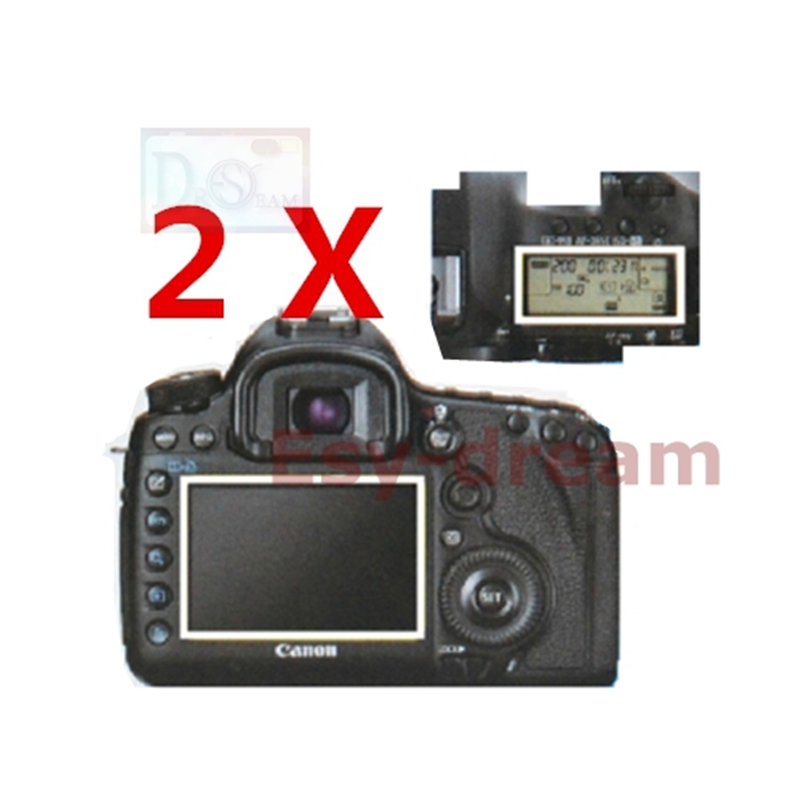 2pcs Soft Main LCD + Shoulder Info Top Display Screen Film Protector For Canon 5D Mark III / 5D MARK IV 5D3 5D4 5DIII 5DS R 5DSR