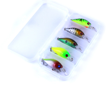 5pcs 4.2g Fishing Lure Kit Minnow floating Lure
