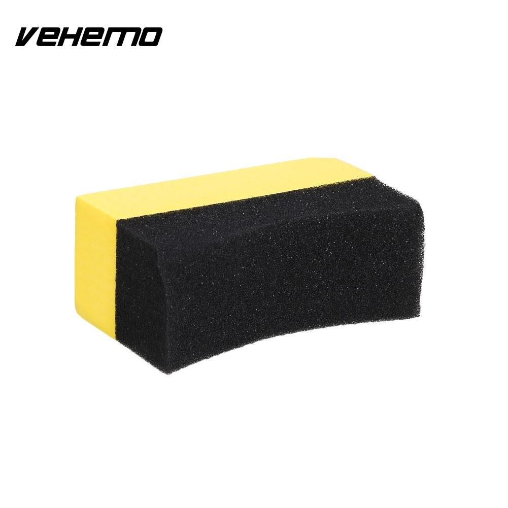 Vehemo Sponge Brush Cleaning Brush Car Wash Sponge 2PCS PVA Sponge Portable Wiping Automobile Car Edge Auto Detailing