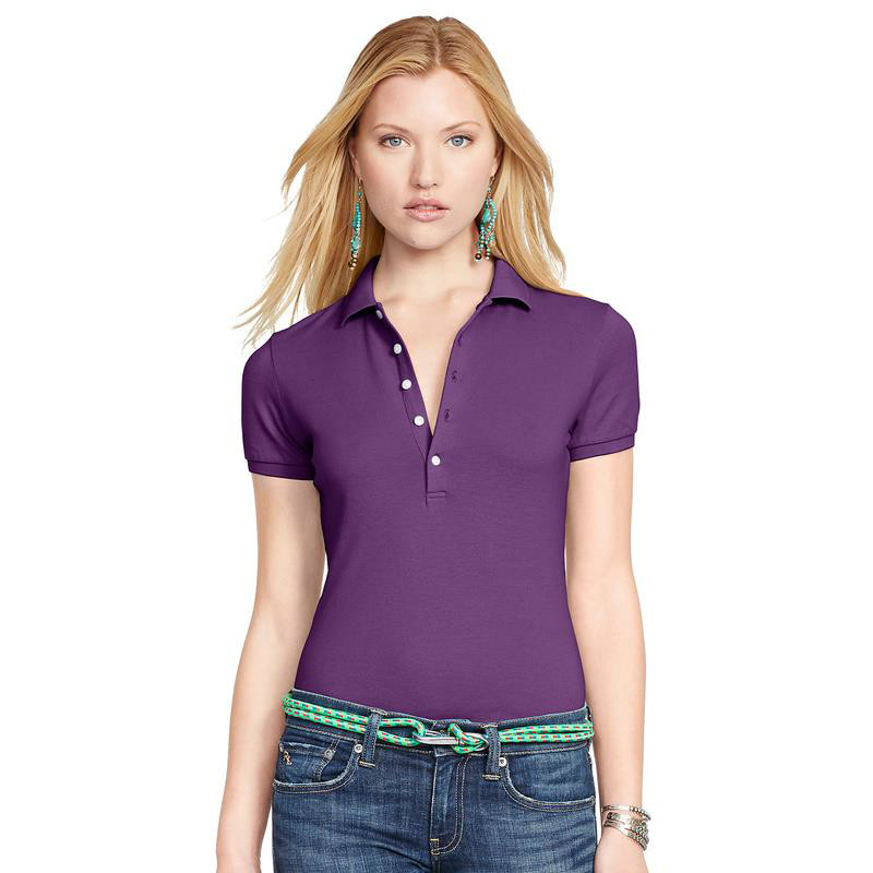2016 Women Clothing Polo Shirt Fashion Famous Solid Luxury