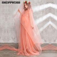 Maternity Photography Props Maternity Dress Women Pregnant Romantic Elegant Long Fairy Trailing Dress Photo Shoot Shower