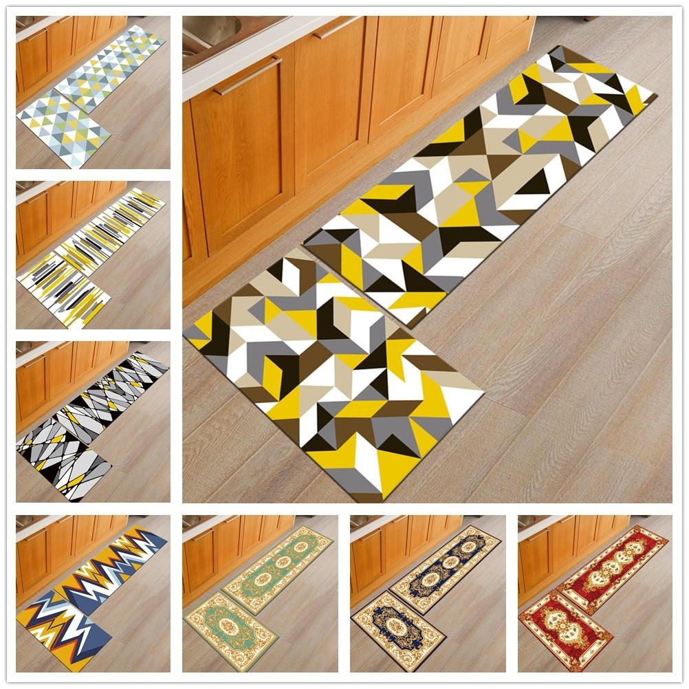 50X80+50X160CM/Set Nordic Brief Kitchen Mat Home Decor Entrance Doormat Anti-Slip Bathroom Carpet Sliding Door/Wardrobe Area Rug
