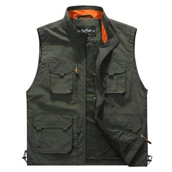 Fashion Vest Men Casual Waistcoat Summer Autumn Sleeveless Men Vest Multipockets Military Jacket Breathable chalecos para hombre girl shoes in sri lanka