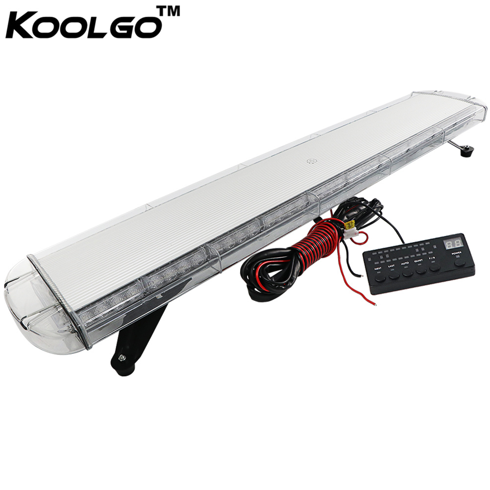 KOOLGO 47 88W 88 LED Work Light Top Roof Emergency Recovery Beacon Flashing Strobe Light Bar