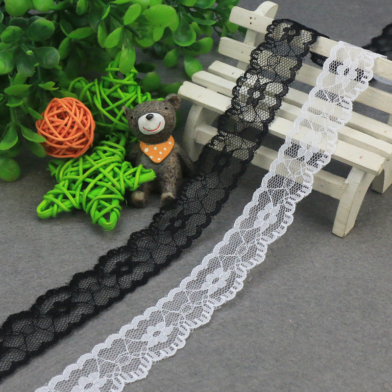 10yards/lot Nylon Lace Accessories Clothing Decoration Ribbon Lace Trim Fabric For Sewing Bridal Wedding Dress Craft
