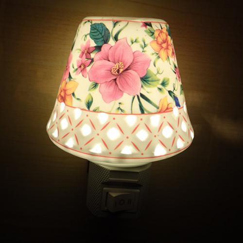 ! Lámpara de noche lámpara de aroma de cerámica de cerámica ahorro de energía luz de la noche de la habitación de los niños dedicados de cerámica