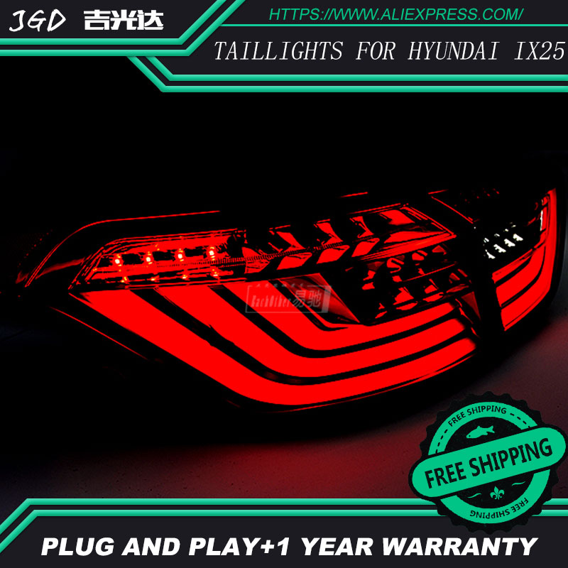 Car Styling tail lights for Hyundai ix25 Creta 2014 2016 taillights LED Tail Lamp rear trunk lamp cover drl signal brake reverse in Car Light Assembly from Automobiles Motorcycles