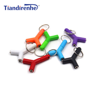 Y Shape 3.5mm earphone Adapter Male To 2 Female Computer Headset Couple Audio Splitter Stereo Adapter for iPhone xiaomi pc mp3
