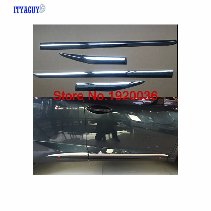 Car styling Chrome Body Side Door Trim Molding Exterior cover For NX 200T 300H Car accessories
