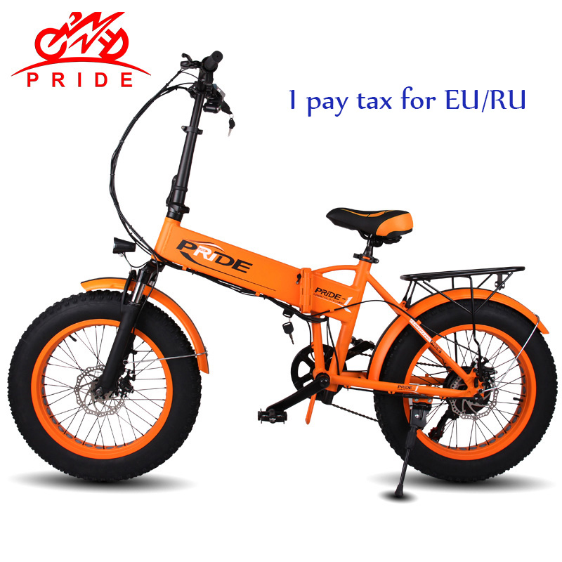 PRIDE 20 электрический велосипед 48V12. 5A литиевая батарея электрический Fat Tire велосипед Алюминиевый Складной 350 Вт мотор электрический Снежный в...