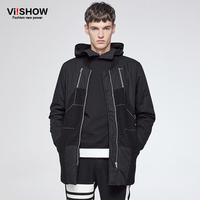 Viishow الرجال سترات معطف الأزياء القطن مبطن معطف الشتاء الرجال jaqueta الغمد أوم ماركة عارضة تناسب معطف سترة قميص