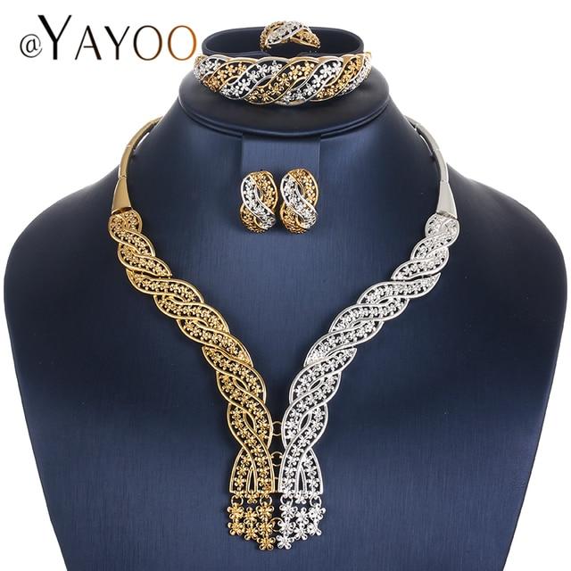 AYAYOO Women Jewelry Sets Fashion Bridesmaid Jewelry Set Gold Color