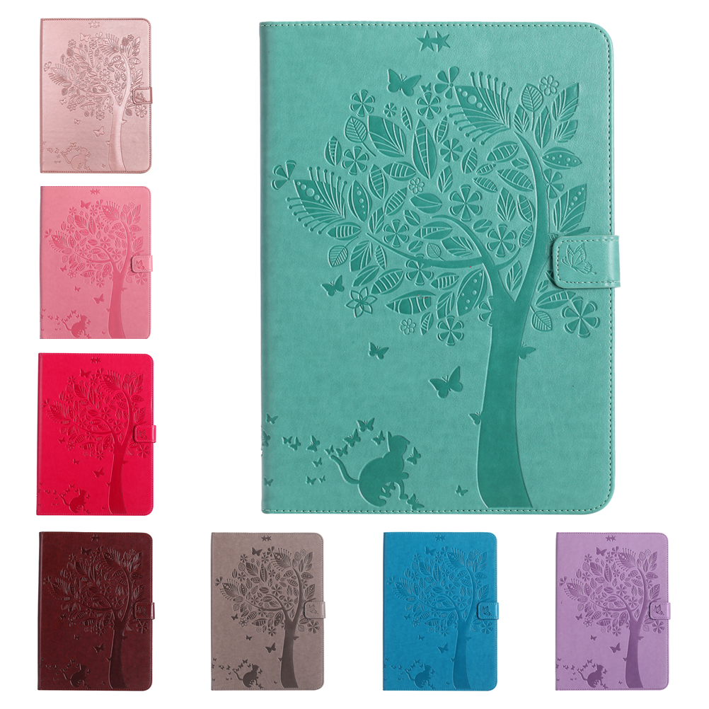 New Cover For Samsung Galaxy Tab E 9.6 T560 T561 Cat and tree PU Leather Tablet Case For Samsung SM-T560 SM-T561 With Card Slot планшет samsung galaxy tab e sm t561 sm t561nzkaser