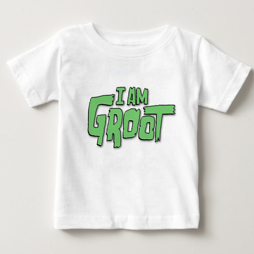 Newest Guardians of the Galaxy children t-shirt Anime boybaby pop groot Summer funny I AM GROOT T Shirt girl Cool Tops NN