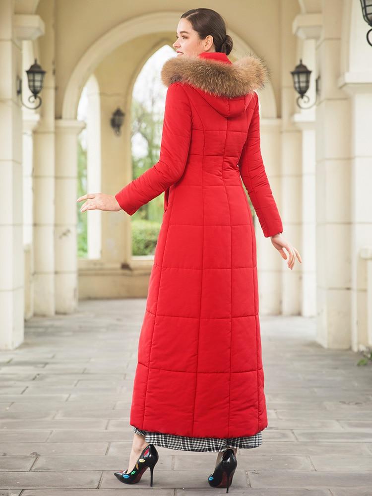 Chaud Cap Outwear X Sustans Dz8067 D'hiver La Long Parka Longue Fourrure Veste Plus Femmes Manteau Taille 1O4wvqx6xE