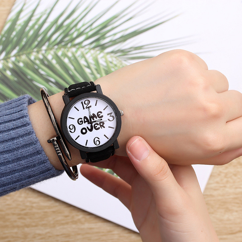Hot Sale Women Bracelet Watch Female Quartz Women Watches Fashion Clock Ladies Watch Waterproof Vintage Watch For Girls Alphabet