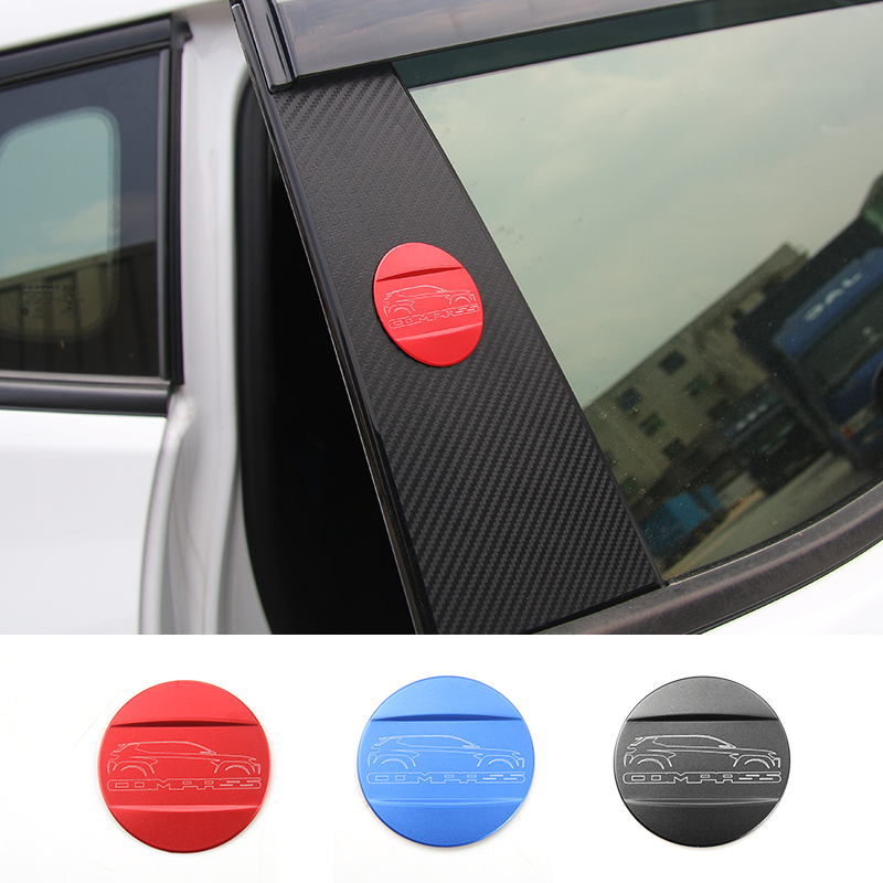MOPAI ABS Car Emblem Badge Body Automobile Model Logo Decoration Stickers For Jeep Compass 2017 Up Car Styling mopai new arrival car exterior rear triangle glass decoration cover stickers for jeep compass 2017 up car styling
