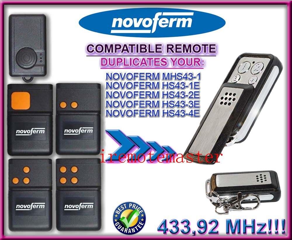 Hs43-3e Hs43-1e KüHn Novoferm Mhs43-1 Hs43-2e Hs43-4e Ersatz Fernmaschine 433,92 Mhz Top Qualität Offensichtlicher Effekt