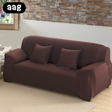 AAG Fashion Elastic Sofa Covers For Living Room Modern Pure Color Cover Stretchable Cushion Washable Slipcover
