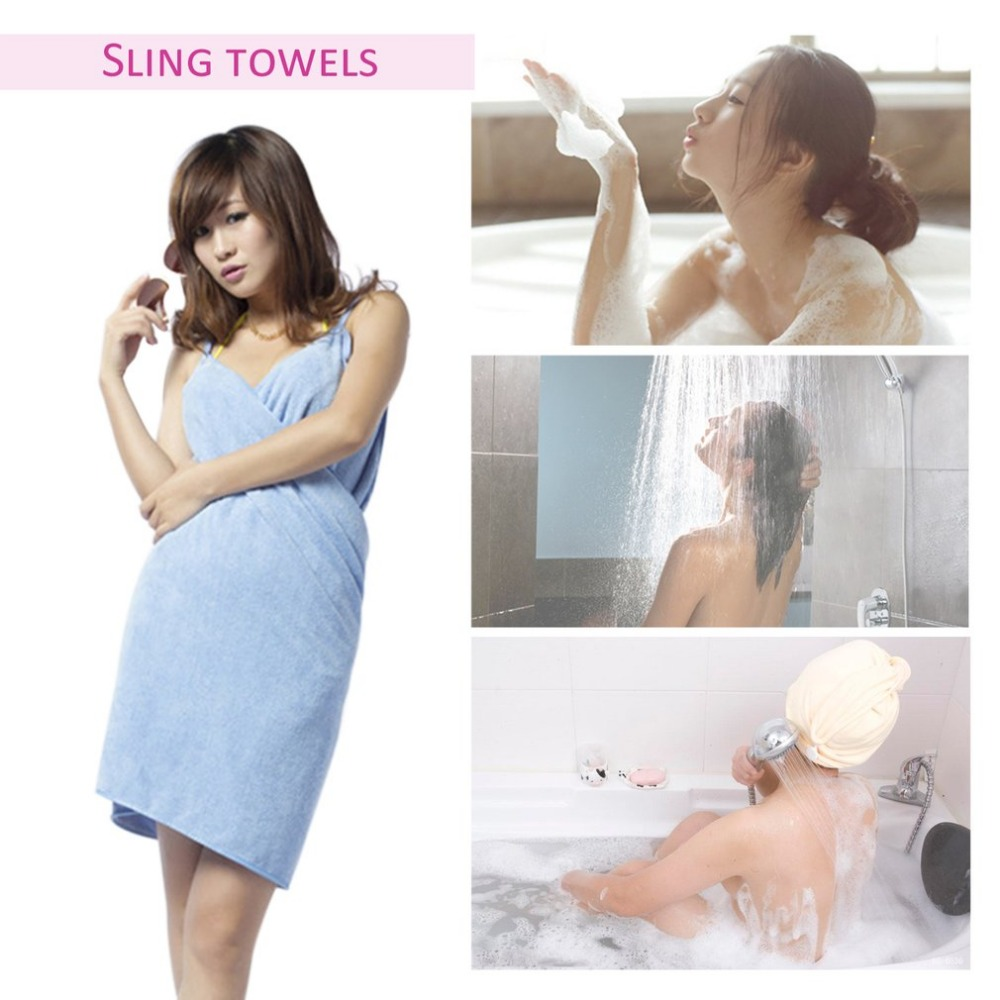 Super Soft Absorbent Quick-drying Microfiber Wearable Bath Towel Bath Robes Comfortable Magic Towel Bathrobes For Adults