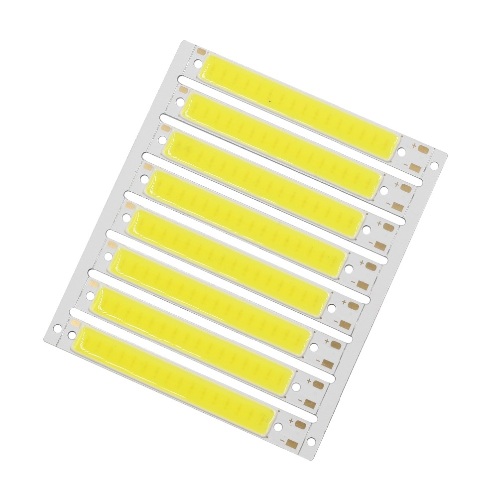 ZZEL ZYEL Hot promotion 100pcs 3v <font><b>4v</b></font> 1.2w L61x8mm 120lm COB <font><b>strip</b></font> <font><b>led</b></font> car light for bicycle light image
