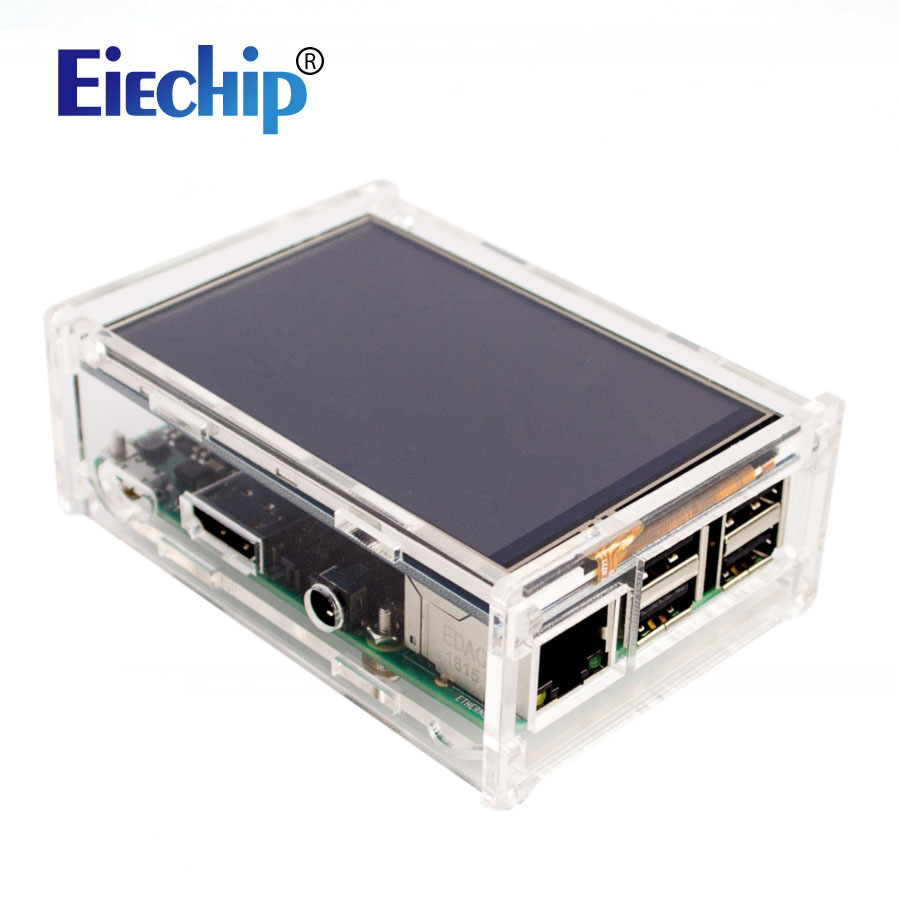Acrylic Case For Raspberry Pi 3 / Pi 2 Model B 3.5 Inch LCD