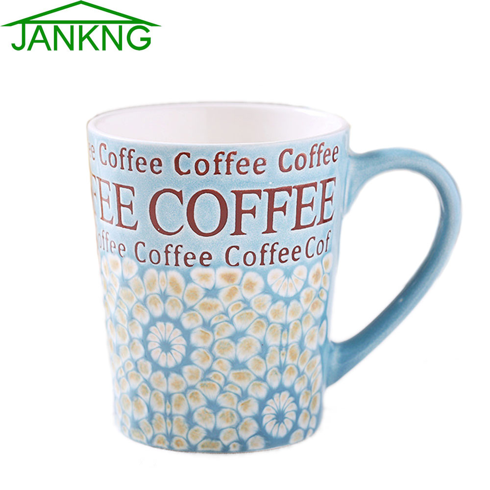 Jankng 450ml lovely ceramic coffee mugs cup heavy hand for Heavy ceramic coffee mugs
