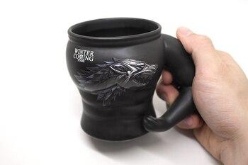 Creative Ceramic Game of Thrones Coffee Mug,Wolf Cup Christmas Mugs Beer Cups