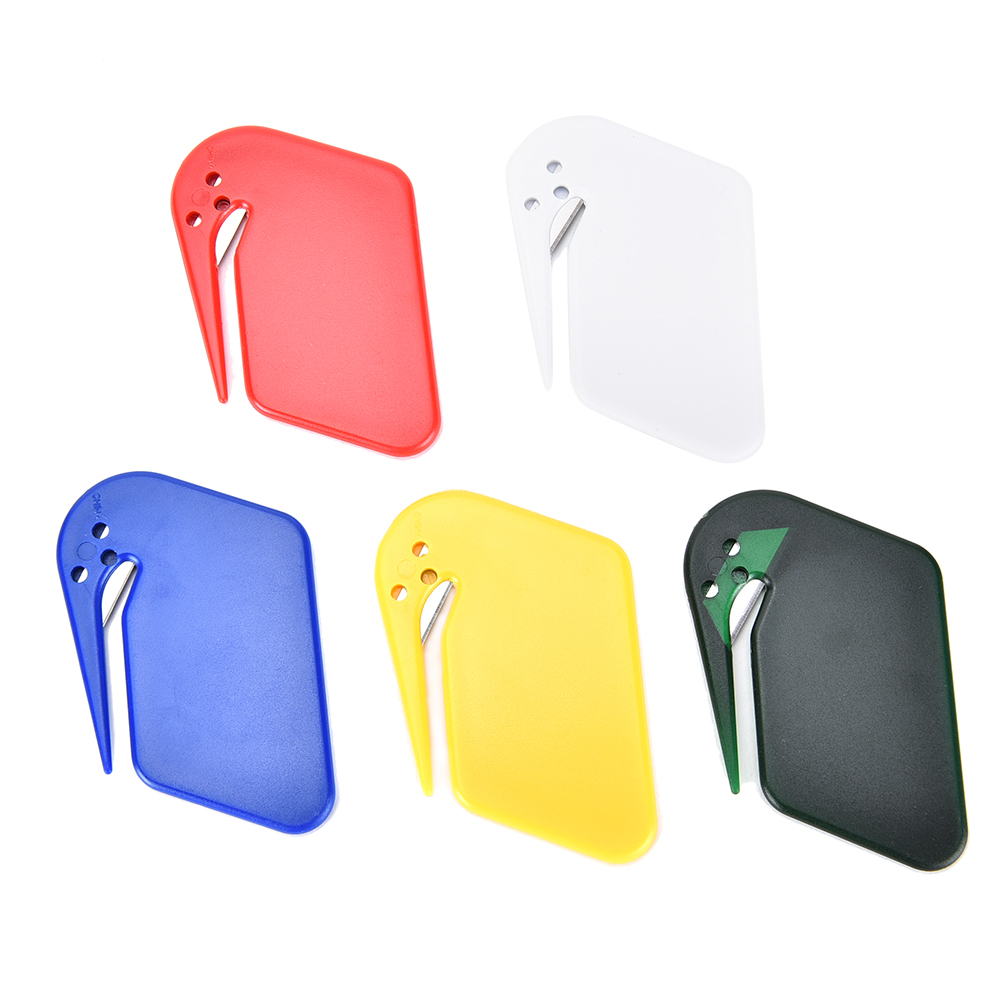 Safty Blade 1pcs Colorful Mini Plastic Durable Letter Opener Knife Paper Mail Envelop Cutter Office Equipment Supplies New Varieties Are Introduced One After Another Office & School Supplies Cutting Supplies