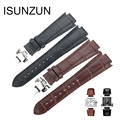 ISUNZUN Watch Strap For Tissot 1853 T60 Genuine Leather Watch Strap 14MM Watch Band For Men And Women Fashion Watchbands