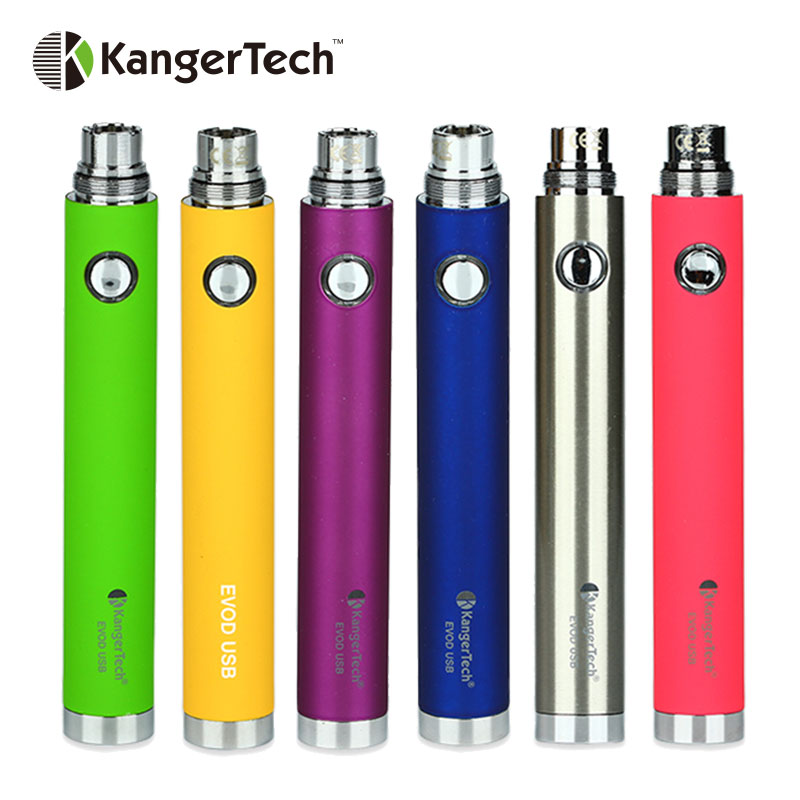 Clearance Kangertech EVOD Battery 650mAh USB Passthrough Battery EGo Thread for EGo Tank Atomizer Ecig Vape Pen Battery
