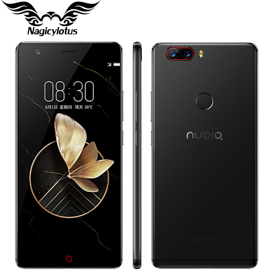 Original Nubia Z17 4G Mobile Phone 5.5 inch Snapdragon 835 OctaCore 6GB RAM 64/128GB ROM Dual Rear Camera Android 7.1 Waterproof