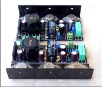 New HOOD 1969 PNP 2.0 Channel Class A amplifier Completed board + Heatsinks