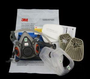 Image 5 - 3M 6200 Gas Mask with 603 Filter Adapter for Anti Dust Mask Painting Spraying Gas Mask Dust Proof Respirator