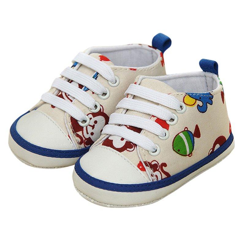 Lucu Hewan Lace-Up Nyaman Prewalker Lembut Sole Anti-slip Sepatu Dangkal Baru Lahir Bayi Laki-laki Perempuan Bayi Balita
