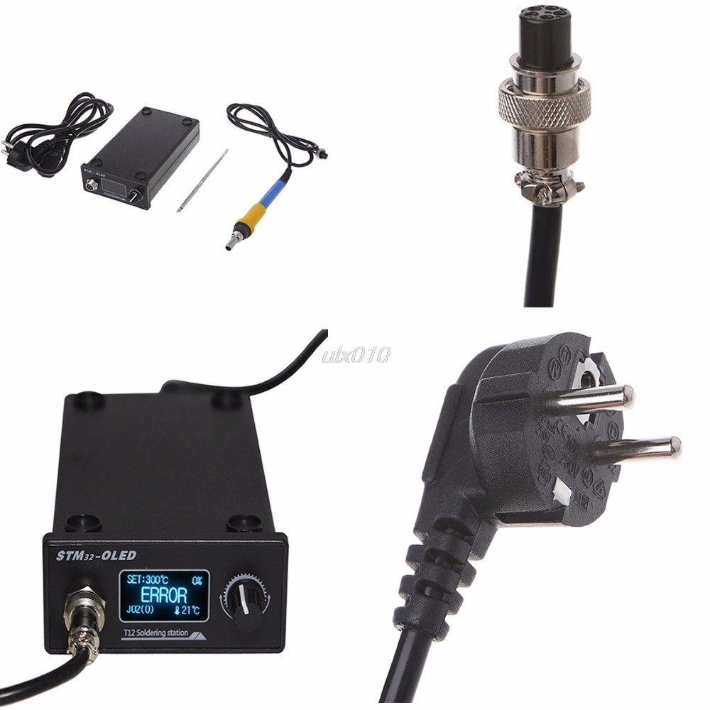 EU Plug T12 Soldering Iron station STM32 OLED Solder Tools electronic Welding July1 Drop ship