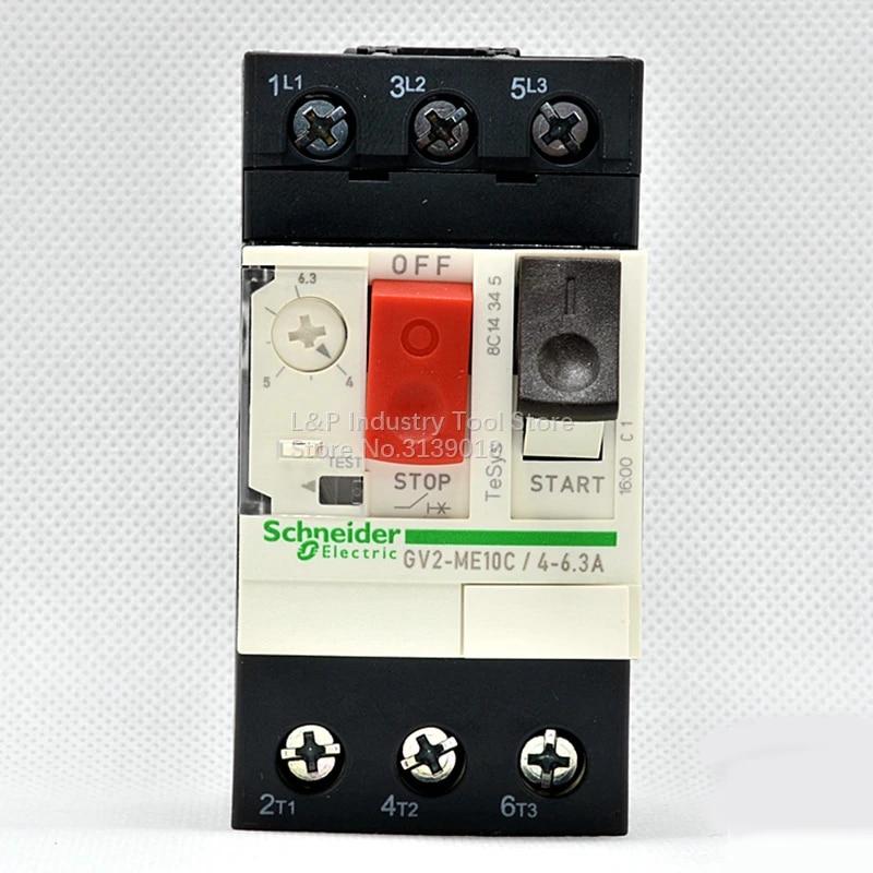 GV2ME10 GV2ME10C 4-6.3A Motor Circuit Breaker