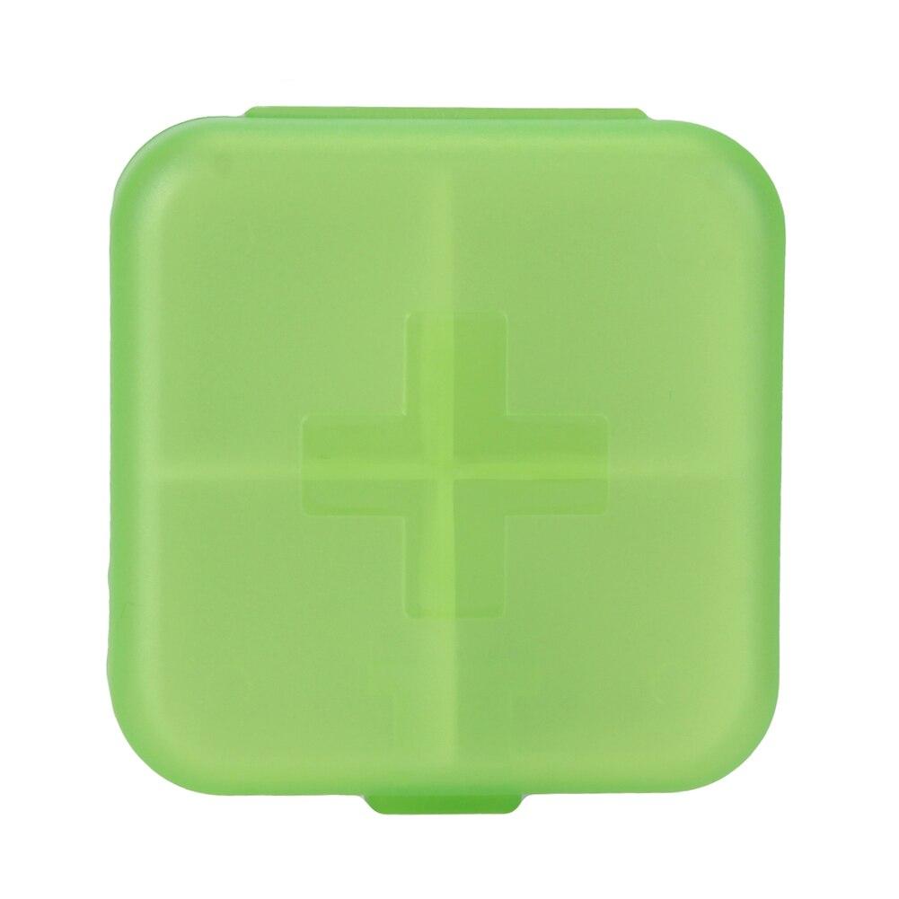 4 Slots Square Travel Pill Cases Outdoor Vitamin Cases Medicines Pill Box Portable Medicine Holder Pastillero 12