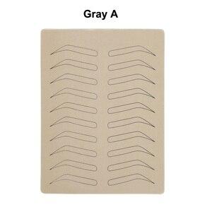 Image 2 - 1 PC גומי עיסוק עור מזויף False גבות ריק עור פיגמנט משלוח עבור Microblading קבוע איפור קעקוע אימון למידה
