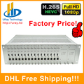 DHL Frete Grátis 16 Canais HDMI Encoder IPTV H.265 HEVC/Hardware H.264 HD Codificador De Vídeo Suporte HTTP, RTSP, RTMP, UDP, ONVIF