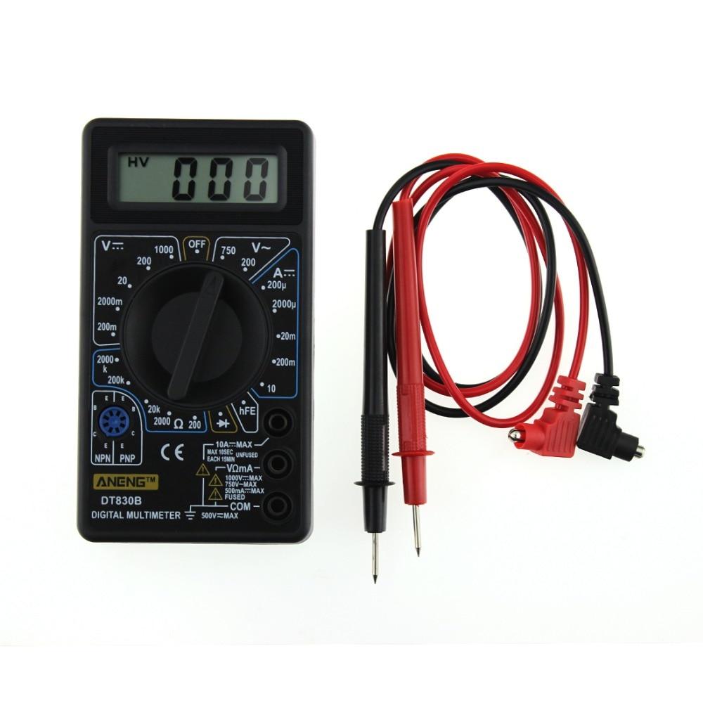 1 PC Calidad AAA Nuevo LCD Multímetro digital LCD Probador de capacitancia de resistencia de amperímetro AC / DC SA677 P50