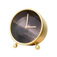Table Clock Desktop Vintage Pendulum Clocks Electronic Desk Clock Quartz Clock Silent Digital Office Accessories 50Y020