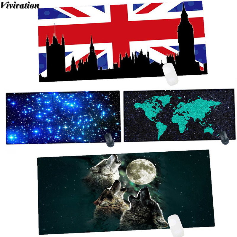 2018 Fashion New Printing Gaming Mouse Pad Mat For CSgo / Overwatch / CF Viviration Computer PC Table Mat Pad 90x40CM Mousepad