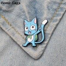 Homegaga Fairy tail Zinc Cartoon Pins for men women para Shirt Charm Coat insignia Clothes backpack medal Badges Brooches D1500