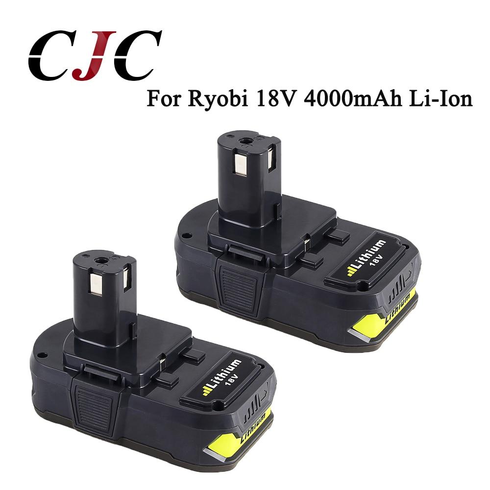 Haute capacité 2x P108 18 V 4000 mAh Li-Ion pour Ryobi RB18L40 P300 P400 batterie Rechargeable pour Ryobi pour ONE +