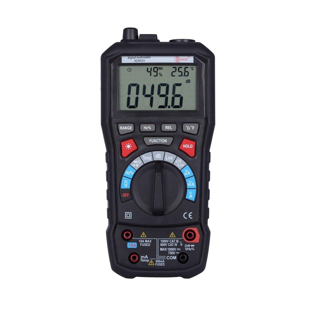BSIDE ADM30 5 in 1 Auto Gamma Digitale Multimetro con il Rumore Ambiente Temperatura Luminosità Funzione multimetro VS MS8229