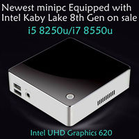 2018 Newset Kaby Lake R 8th Gen mini pc win10 i5 8250u/i7 8550u Quad Core 8 threads UHD Graphics 620 2.4G/5G AC wifi 4K mini pc